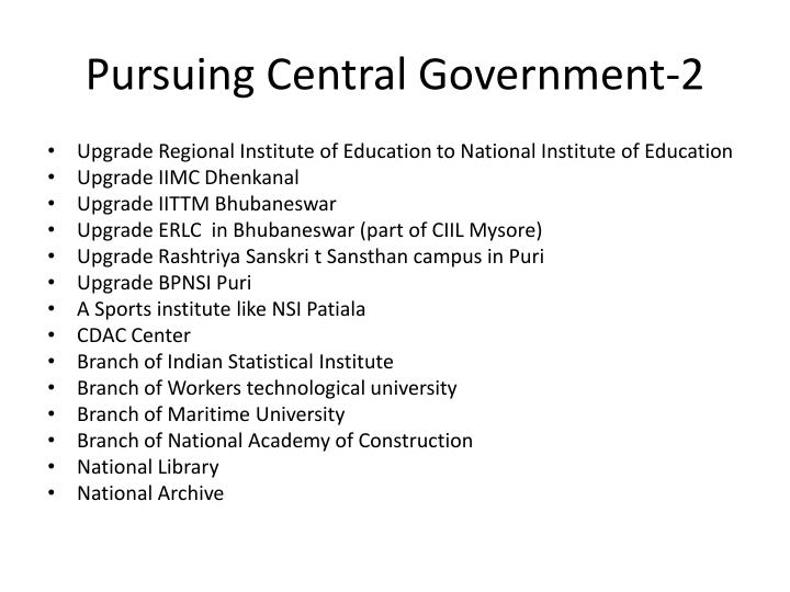 Pursuing Central Government-2