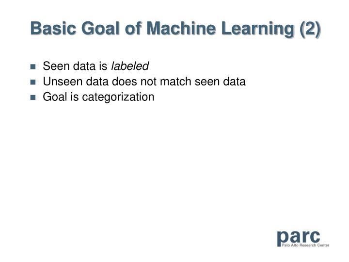 Basic Goal of Machine Learning (2)