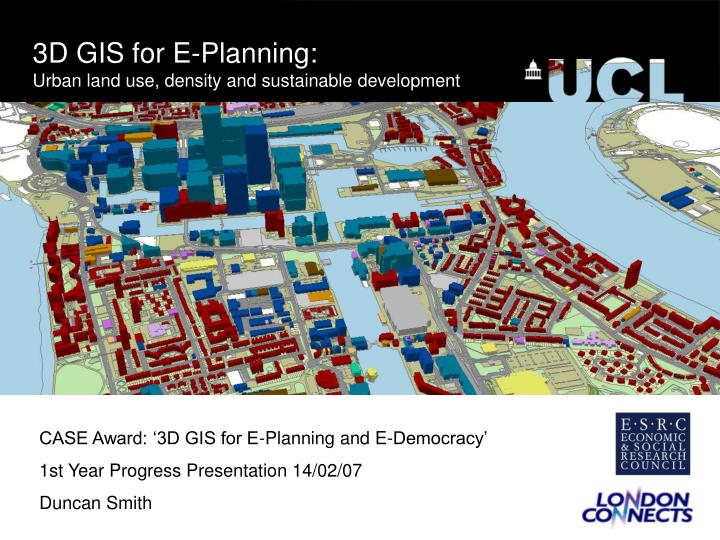 PPT - 3D GIS for E-Planning: Urban land use, density and sustainable