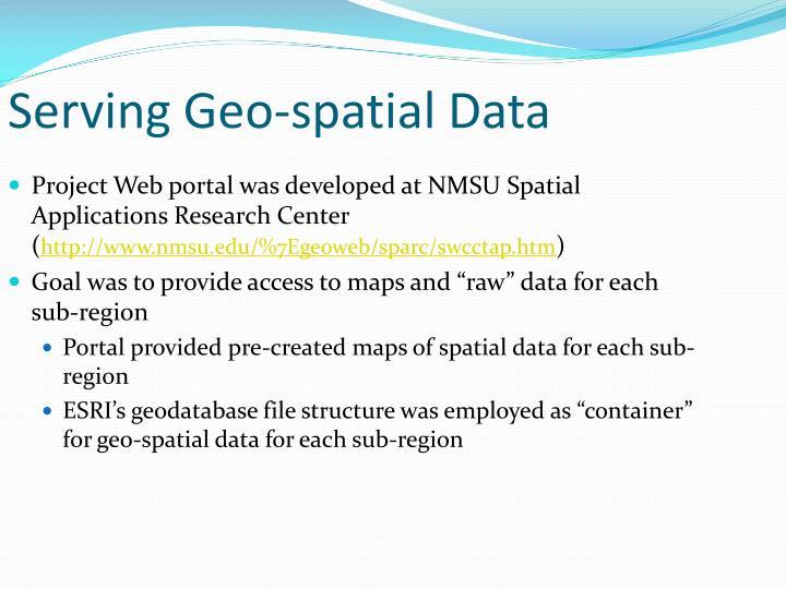 Serving Geo-spatial Data
