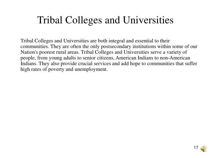 Tribal Colleges and Universities