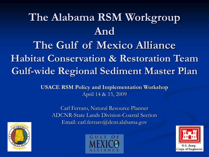 The Alabama RSM Workgroup