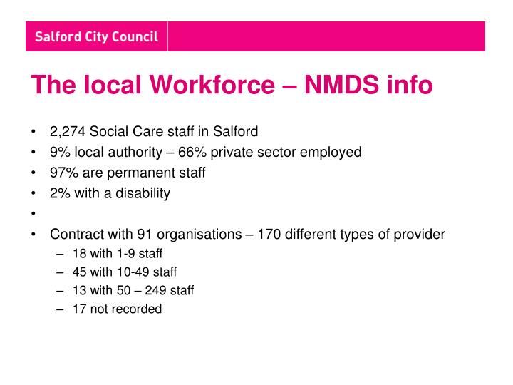 The local Workforce – NMDS info