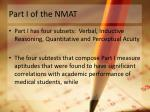 part i of the nmat