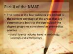 part ii of the nmat1