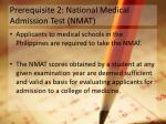 prerequisite 2 national medical admission test nmat