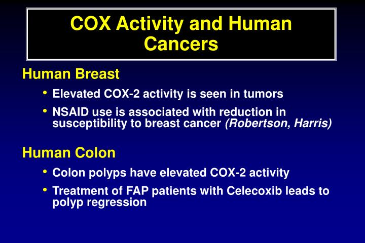 COX Activity and Human Cancers