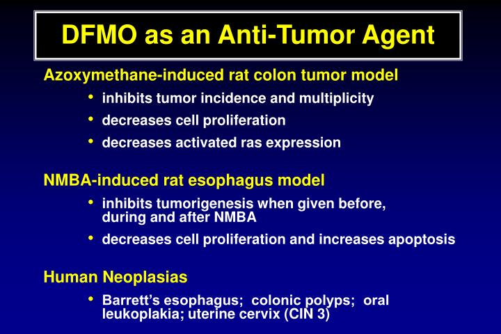 DFMO as an Anti-Tumor Agent
