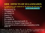 side effects of sugammadex