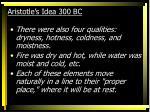 aristotle s idea 300 bc