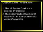 chadwick s atom modern atom