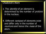 chadwick s atom