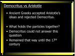 democritus vs aristotle