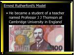 ernest rutherford s model