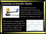 examples of scientific models