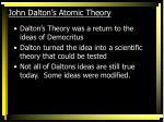 john dalton s atomic theory