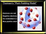 thomson s plum pudding model1