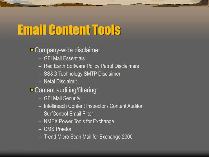 Email Content Tools