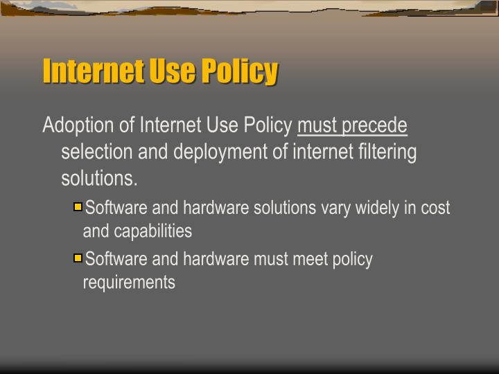 Internet use policy1