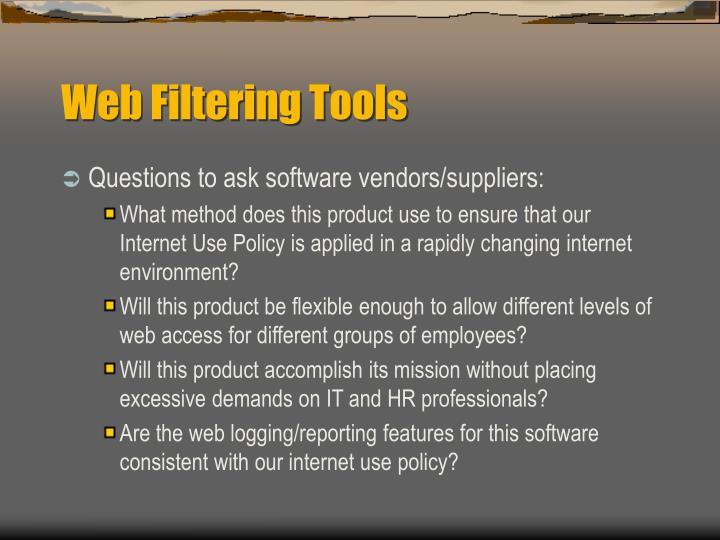 Web Filtering Tools