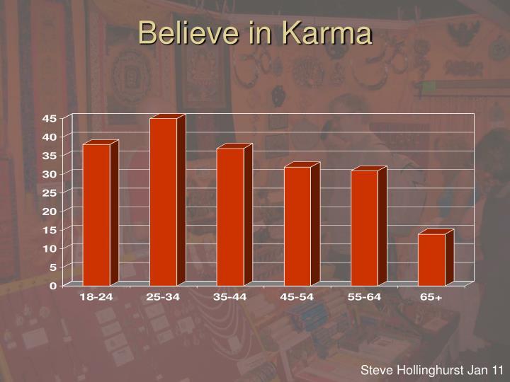 Believe in Karma