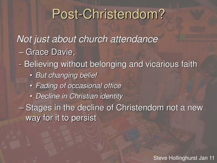 Post-Christendom?