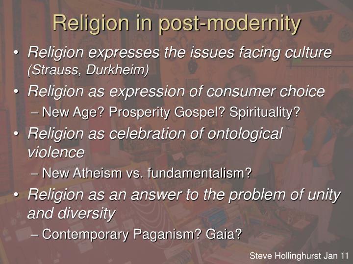 Religion in post-modernity