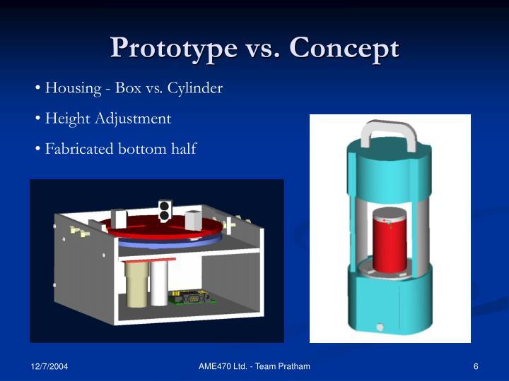 Prototype vs. Concept
