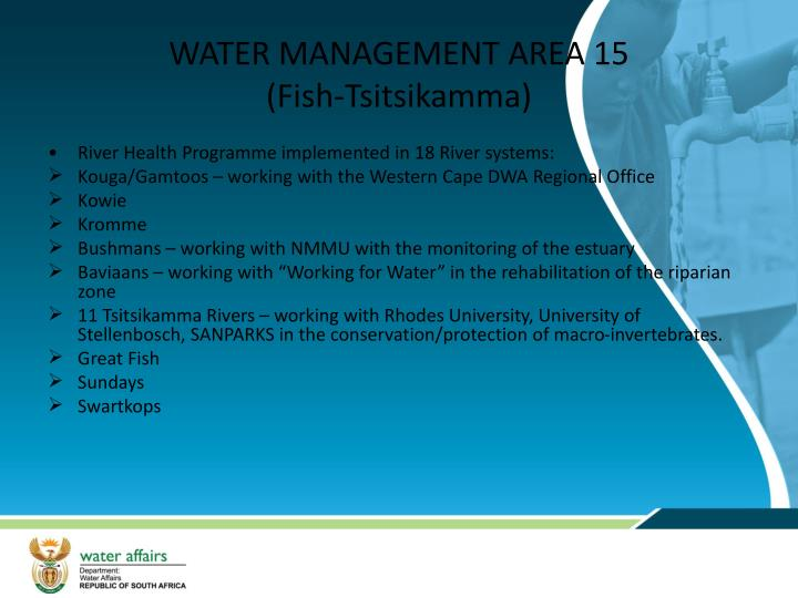 WATER MANAGEMENT AREA 15
