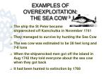 examples of overexploitation the sea cow 3