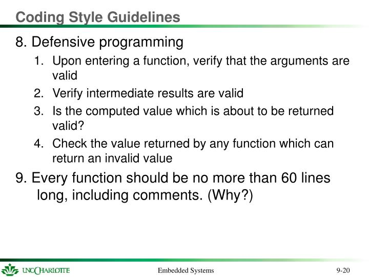 Coding Style Guidelines