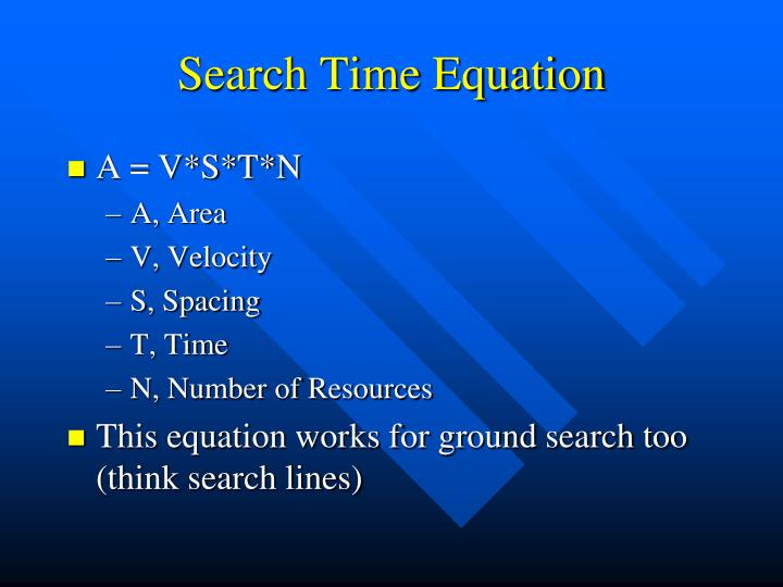 Search Time Equation