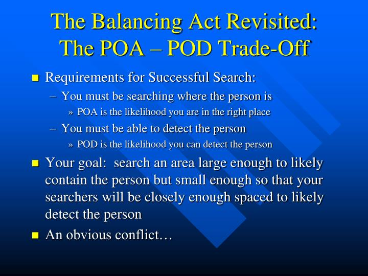 The Balancing Act Revisited: