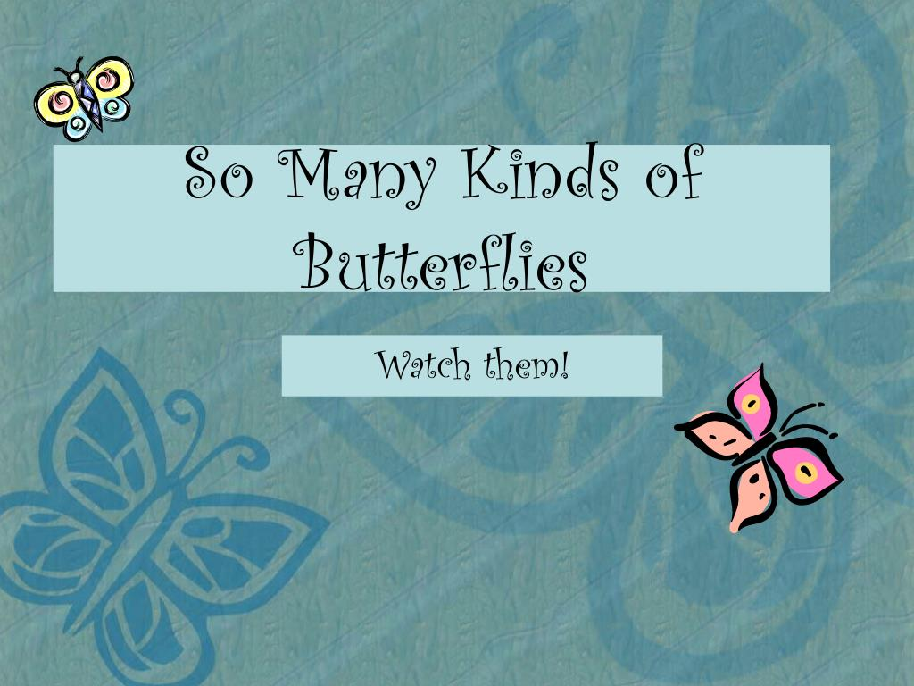 Ppt So Many Kinds Of Butterflies Powerpoint Presentation Free Download Id 4446331