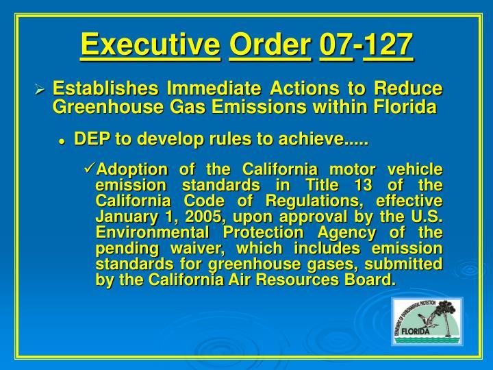 Executive order 07 127