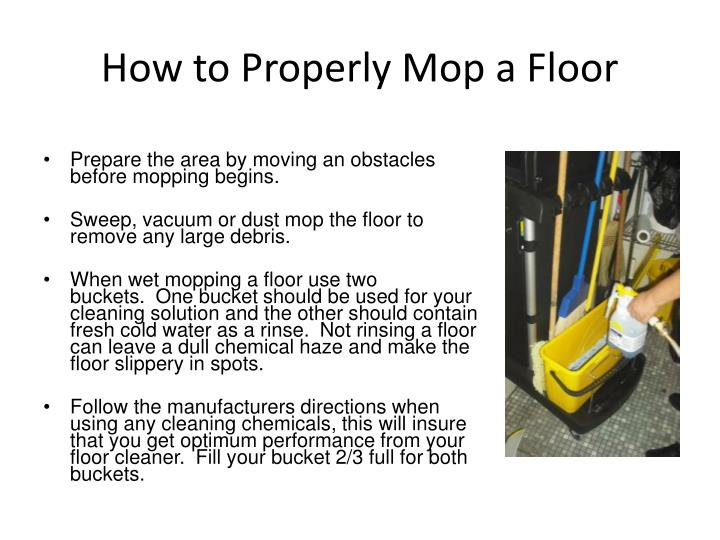 Ppt How To Properly Mop A Floor Point Presentation Free