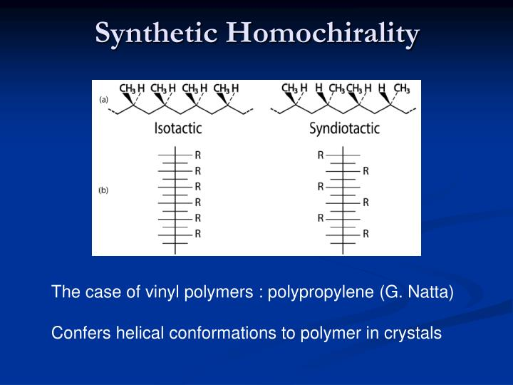 Synthetic Homochirality