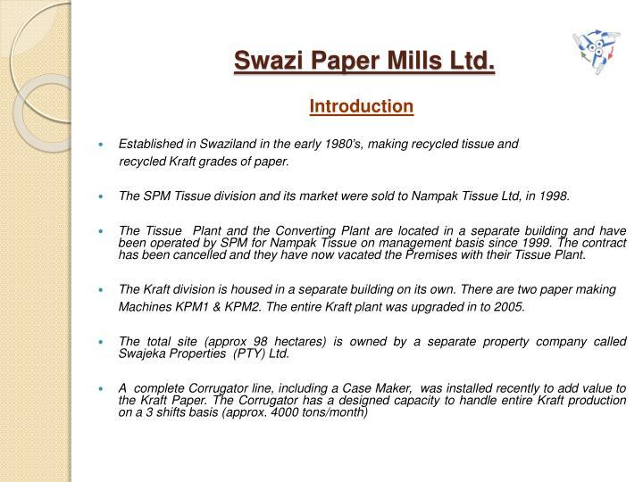 Swazi paper mills ltd