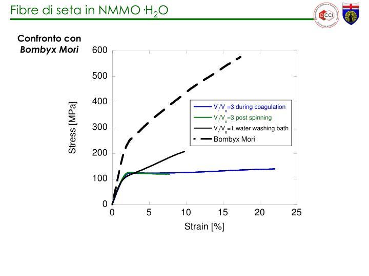 Fibre di seta in NMMO