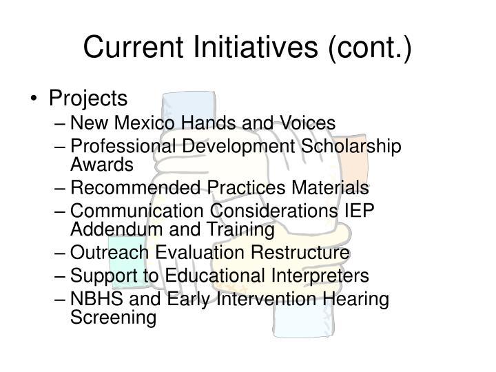 Current Initiatives (cont.)