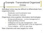 example transnational organized crime