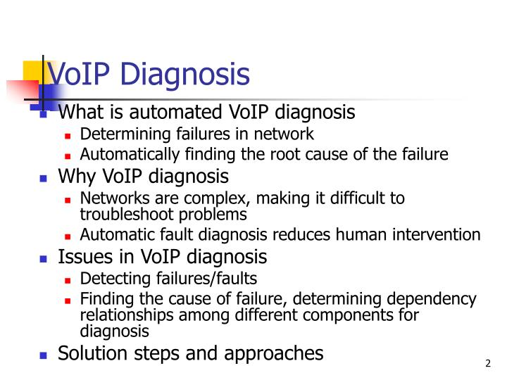 Voip diagnosis