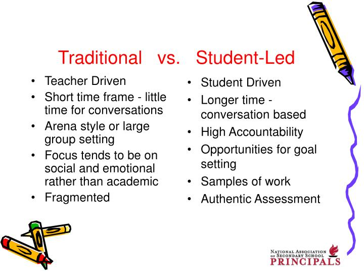 Traditional vs student led