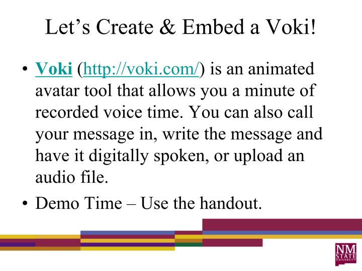 Let's Create & Embed a Voki!