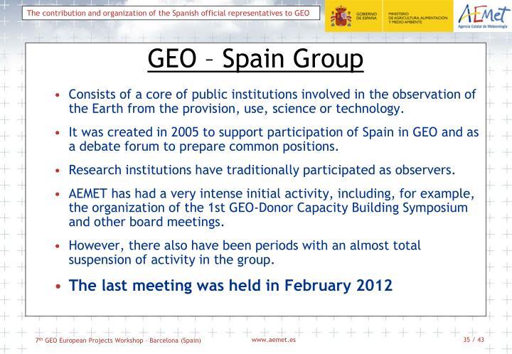 GEO – Spain Group