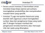 investasi ti1