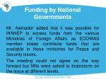 funding by national governments1
