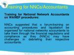 training for nncs accountants