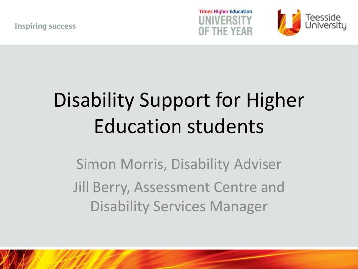 disability support for higher education students n.