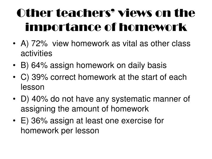 the importance of homework